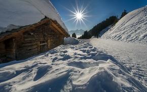 Picture mountains, snow, switzerland