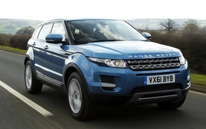 Picture road, the sky, blue, Land Rover, Range Rover, the front, Evoque, crossover, Land Rover, Ewok, …