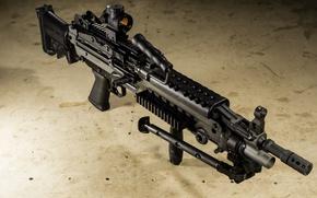Wallpaper background, machine gun, manual, FN m249s
