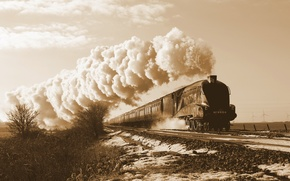 Picture train, steamer, railroad