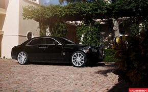 Picture machine, auto, Rolls Royce, Ghost, side, CVT, Vossen, Wheels