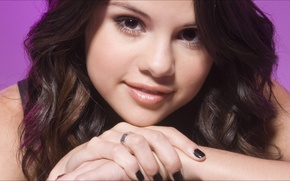 Picture music, eyes, Girls, beauty, 1920x1080, doll, Selena Gomez, portrait