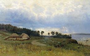 Picture trees, Constantine, Kryzhitsky, hut, Before the rain, Y.