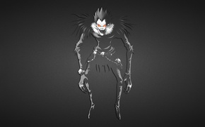 Picture the dark background, Death Note, Death note, the guy is terrible, Ryuk