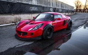 Picture Lotus, Red, road, Tuning, Elise