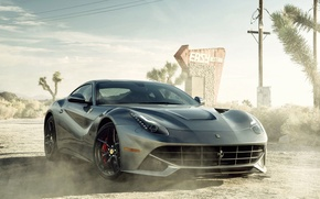 Picture Dust, Desert, Ferrari, Ferrari, Car, Car, Berlinetta, F12, Sportcar, Dust