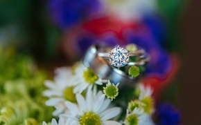 Picture stone, ring, wedding