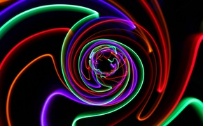 Picture rays, light, line, lights, color, track, spiral