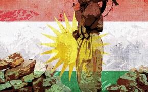Picture Wallpaper, Flag, Kurdistan, The Flag Of Kurdistan