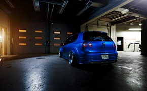 Picture blue, tuning, volkswagen, drives, Golf, golf, gti, back