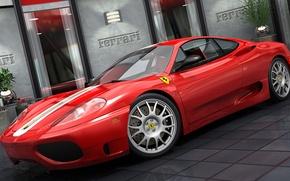 Picture graphics, Ferrari, Road, Challenge