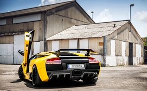 Picture machine, car, Lamborghini, Lamborghini Murcielago, Prestige Imports Miami, Golden Child