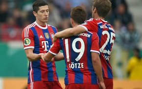 Picture football, Bayern, Lewandowski, Muller, Bundesliga, Gotze