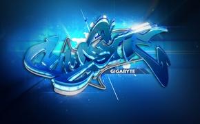 Wallpaper style, Gigabyte, graffiti