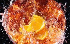 Picture squirt, lemon, tea