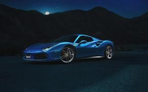 Picture Ferrari, Blue, Front, Spider, Supercar, 488