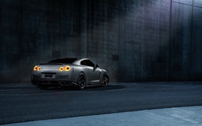 Picture Imperial, Dark, GTR, Japan, Nissan, Car, California, Grey, Best, R35, Sport, Rear, Works