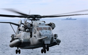 Picture flight, helicopter, military, Sikorsky, transport, heavy, CH-53, Sea Stallion