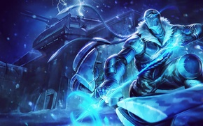 Wallpaper cold, snow, storm, League of Legends, Arrow of Retribution, artic ops, varus
