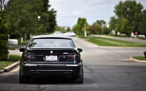 Picture black, street, bmw, BMW, black, road, street, e39