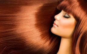 Picture eyes, hair, makeup, chestnut