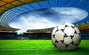 Picture field, the ball, Football, stadium