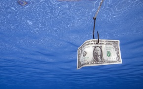 Wallpaper dollar, Money, fishing