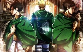 Picture emblem, cloak, military uniform, Shingeki no Kyojin, Levi, Eren Yeager, The invasion of the giants, …