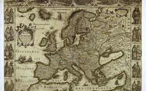 Wallpaper Europe, map, europe