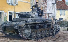 Picture figure, Panzerkampfwagen III, German medium tank, Panzer III, T-3, Pz.Kpfw. III Ausf. E