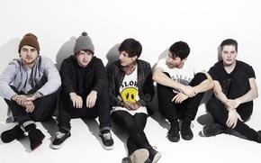 Wallpaper music, group, Bring Me The Horizon, metalcore, Matt Kean, Matt Nicholls, Jordan Fish, Oliver Sykes, ...