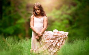 Picture nature, dress, girl, child photography