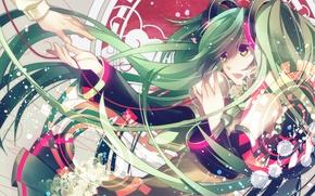 Picture girl, anime, vocaloid, hatsune miku, Vocaloid, Hatsune Miku