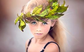 Picture girl, wreath, Julia Altork, Summer Beach