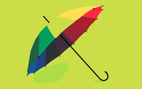 Wallpaper color, rainbow, rendering, umbrella