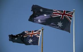 Picture holiday, flags, Happy Birthday Australia, Australia Day