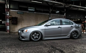Picture mitsubishi, japan, jdm, tuning, lancer, evolution, evo, low, stance