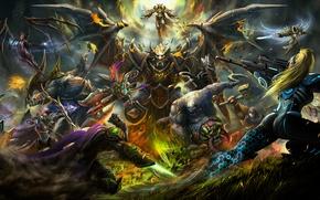 Picture starcraft, diablo, warcraft, Zeratul, sarah kerrigan, Sylvanas, Tyrael, Heroes of the Storm, Archangel of Justice, …