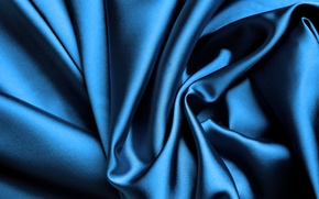 Picture blue, Shine, silk, fabric, folds, silk, satin