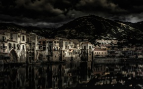 Picture mountains, night, home, Italy, Sicily