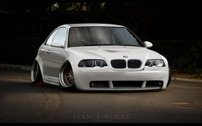 Picture road, low, BMW M3, stance works