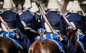 Picture soldiers, Sverige, rifles, guard, Royal Horse Guards