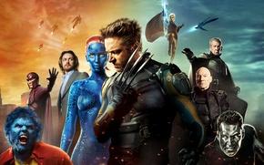 Picture Wolverine, Hugh Jackman, X-Men, Logan, Men, James McAvoy, Future, Michael Fassbender, Ian McKellen, Professor, Year, …