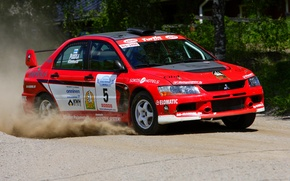 Picture Red, Auto, Sport, Race, Mitsubishi, Red, WRC, Rally, Rally