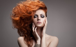 Picture sexy, redhead, pose, makeup