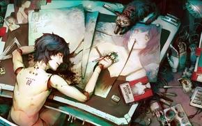 Picture figure, robot, Robot, man, asuka, anatomy