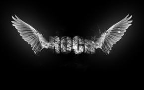 Wallpaper music, wings, rock