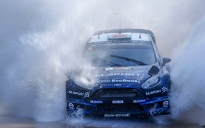 Wallpaper Squirt, Ford, Water, Fiesta, Fiesta, Evans, WRC, Rally, Ford