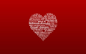 Picture heart, languages, words, i love you