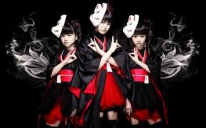 Picture kawaii, music, metal, rock, flower, fox, model, pretty, singer, ninja, asian, pose, mask, Idol, death …